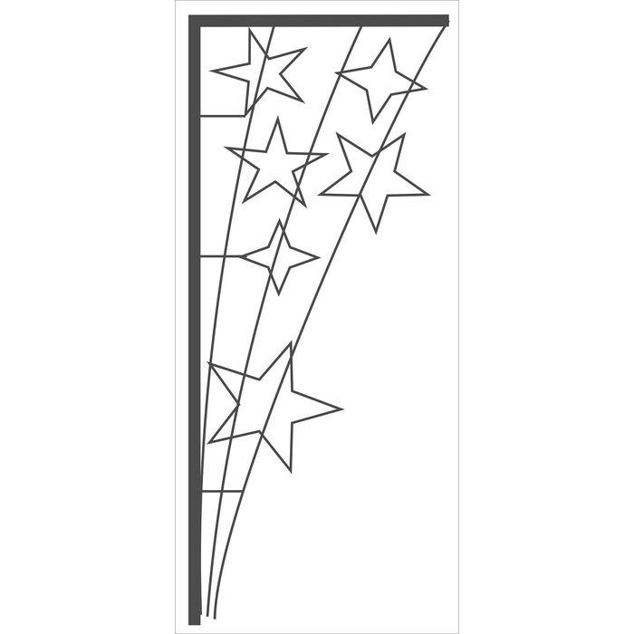 """Светодиодная консоль """"ШЕСТЬ ЗВЕЗД"""", 1 х 0.45 м, led-шнур 14 м, 40 Вт, металлический каркас"""