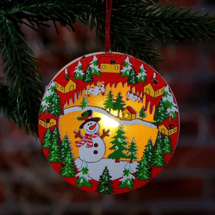 """Декор с подсветкой """"Новый год"""" 10×10,5×3 см"""