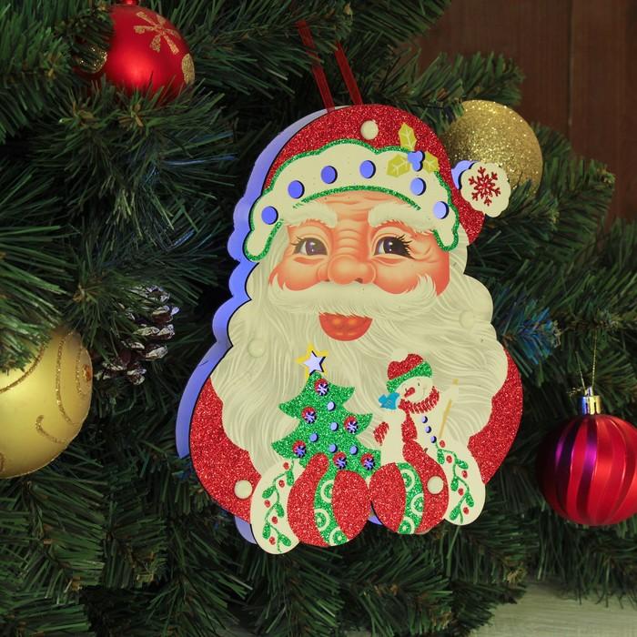 "Декор с подсветкой ""Дед мороз"" 2,3×16×19,5 см"
