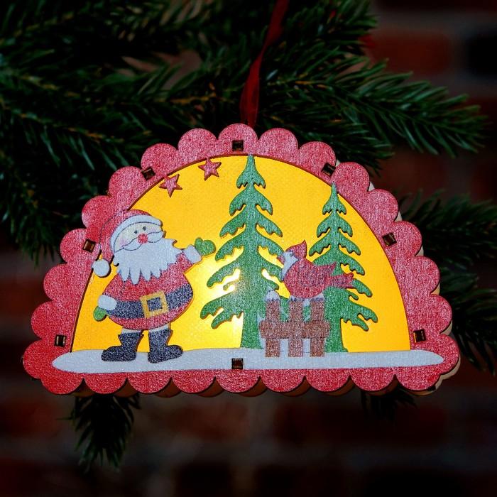 """Декор с подсветкой """"Новый год"""" 3×12,5×8 см"""