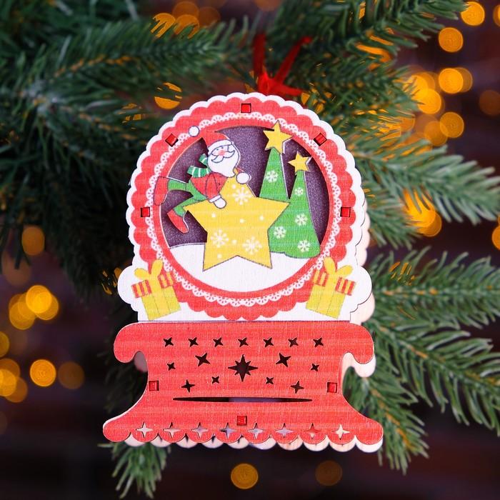 """Декор с подсветкой """"Новогоднее настроение"""" 4,5×8,4×11 см"""