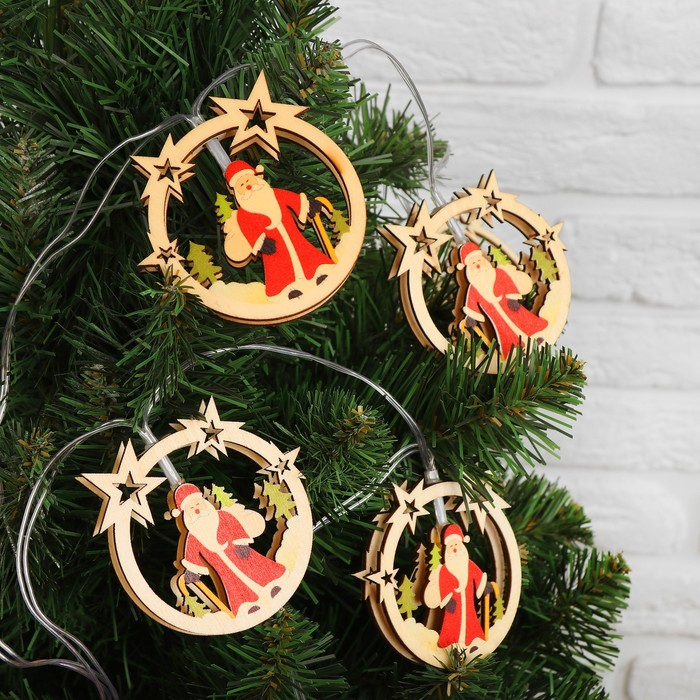 "Гирлянда ""Дед Мороз"" 10 шариков, 120×7×1 см"