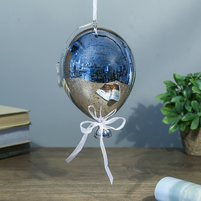 """Ночник """"Воздушный шар серебро"""" от бат в компл 13х13х19 см"""