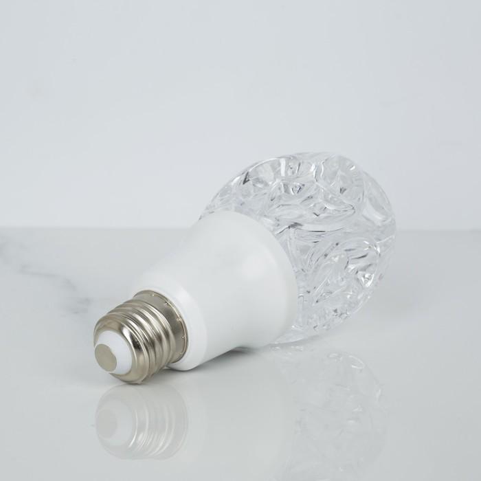 "Лампа хрустальная ""Роза"", 12 LED, 2 режима, 3 Вт, акриловый верх, 220 В"