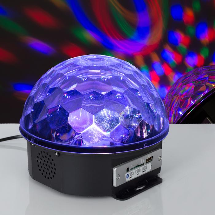 Световой прибор Хрустальный шар, диаметр 17,5 см, с музыкой, Bluetooth, V220