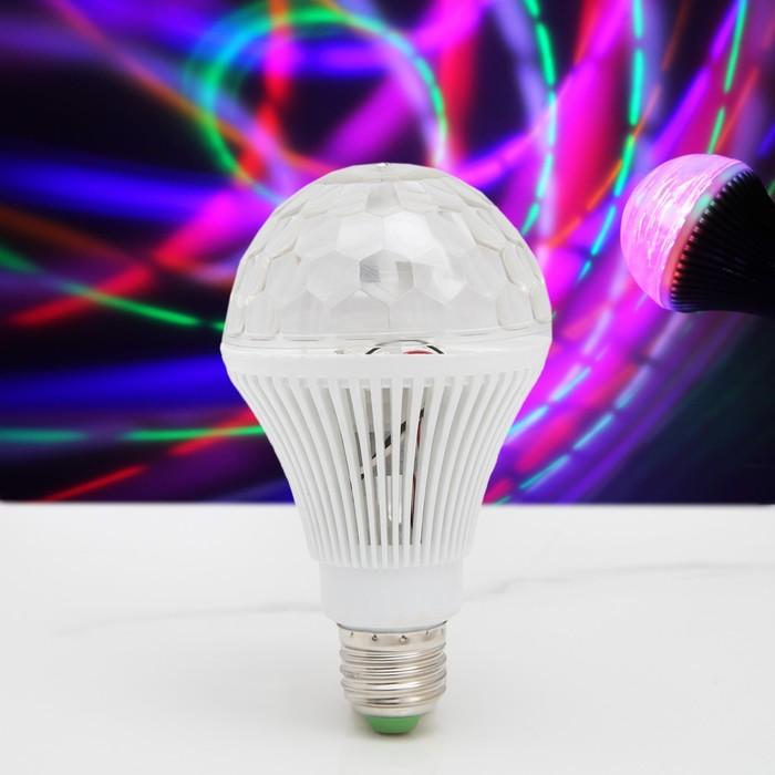 Лампа хрустальный шар диаметр 8 см., 220V, цоколь Е27