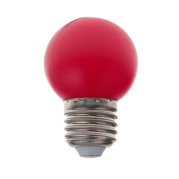 Лампа светодиодная декорат., G45, 6 led SMD, для белт-лайта, красный, фасовка по 100 штук
