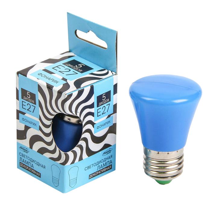 """Лампа светодиодная декоративная Luazon Lighting """"Фонарик"""", 5 SMD2835, для белт-лайта, синий"""