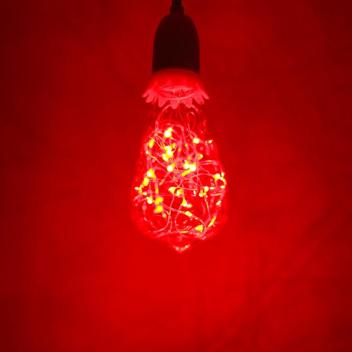 """Лампа светодиодная декоративная """"Ретро"""", ST64, 3 Вт, E27, 145х64, красный"""