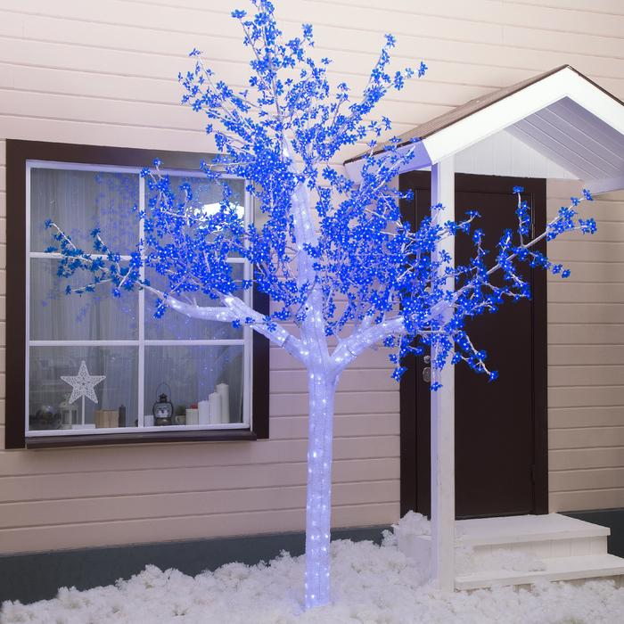 "Дерево светодиодное улич. 3 м. ""Акриловое"" 2304 Led, 140 W, 220V Синий"