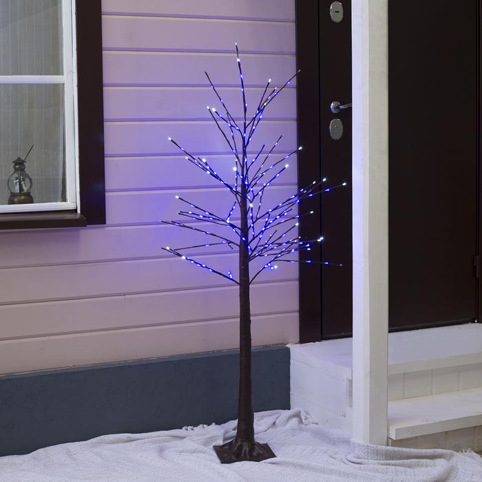 Дерево светодиодное уличное, 1,5 м, 224 LED, 220 В, эффект мерцания, СИНИЙ