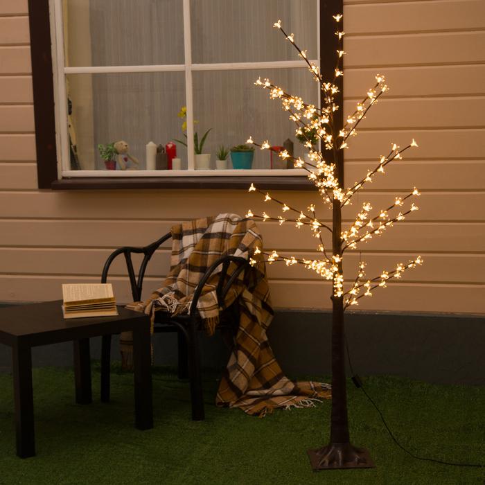 "Дерево светодиодное улич. 1,2 м. ""Ромашки"", 160 LED, 220 В, Т-БЕЛЫЙ"