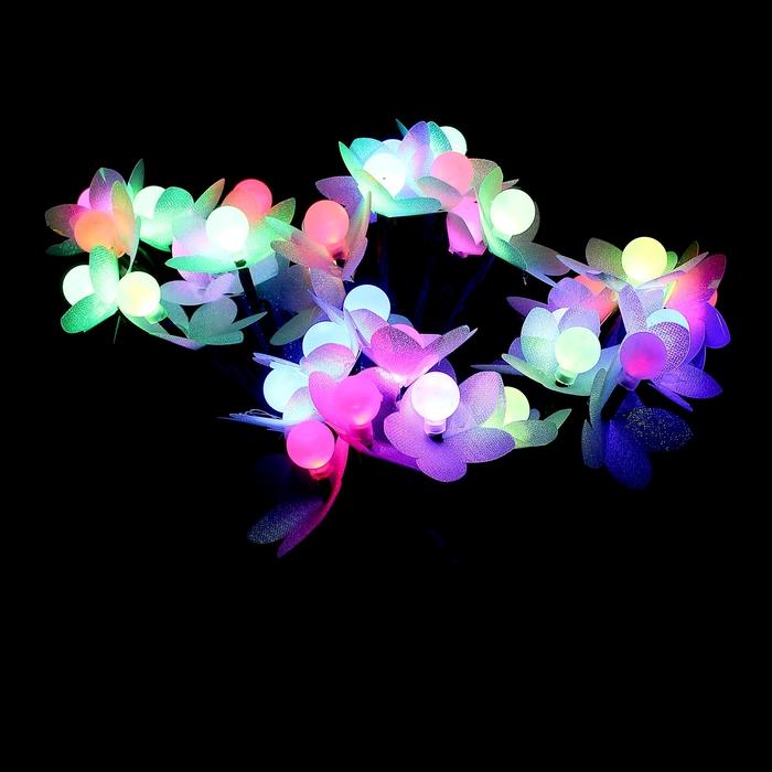 """Светодиодный куст улич. 0,3 м, """"Шарики/цветы"""", 32 LED, 220V, моргает МУЛЬТИ"""