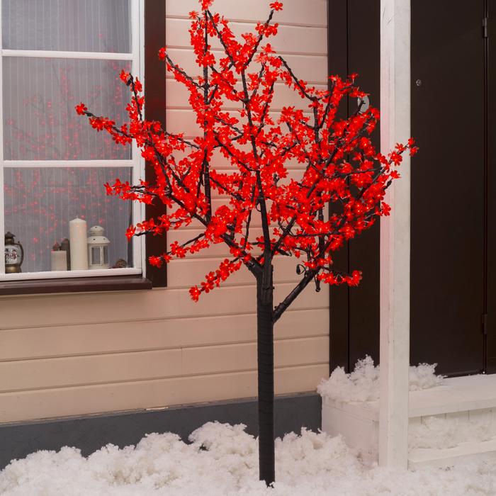 """Дерево светодиодное улич. 2 м. """"Баугиния"""" 864Led, 52W, 220V Красный"""