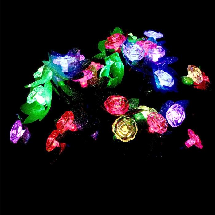 """Светодиодный куст улич. 0,3 м, """"Цветы"""", 32 LED, 220V, моргает МУЛЬТИ"""