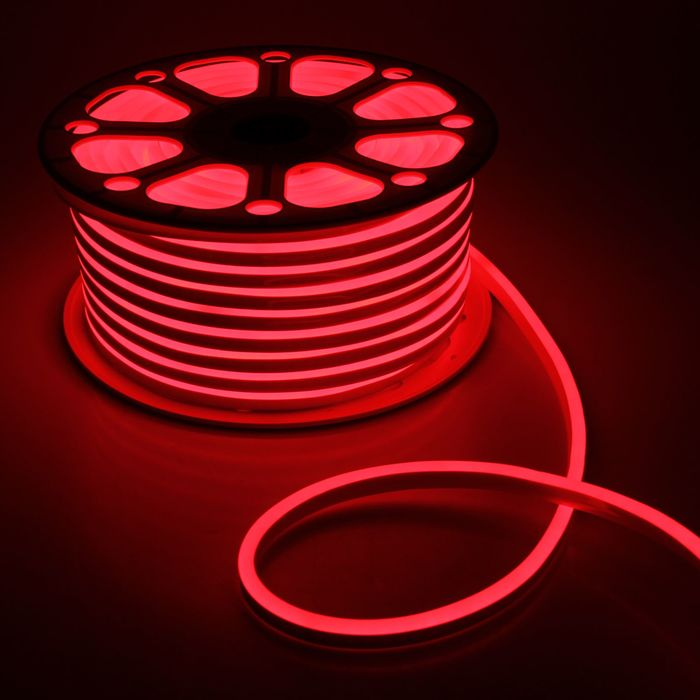 Гибкий неон, 8х16 мм, 50 м, LED/м-120-SMD2835-220V, КРАСНЫЙ