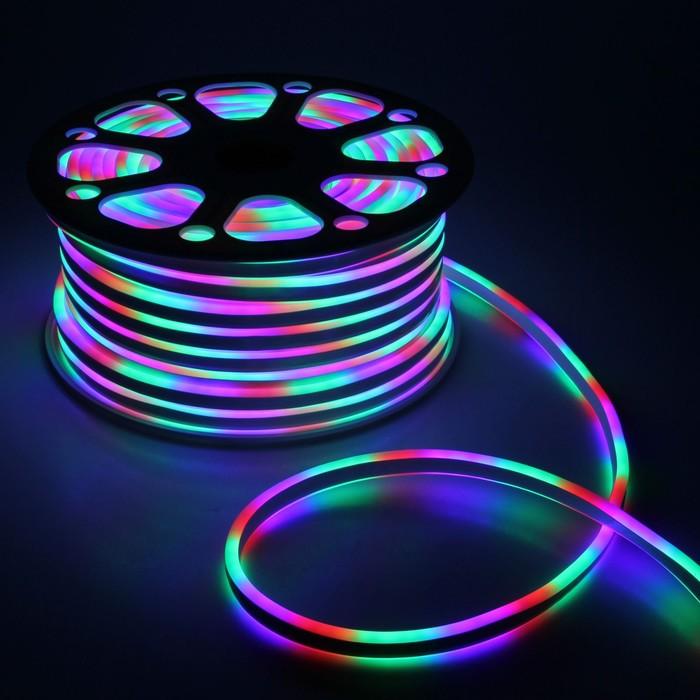 Гибкий неон, 8х16 мм, 50 м, LED/м-120-SMD2835-24V, МУЛЬТИ