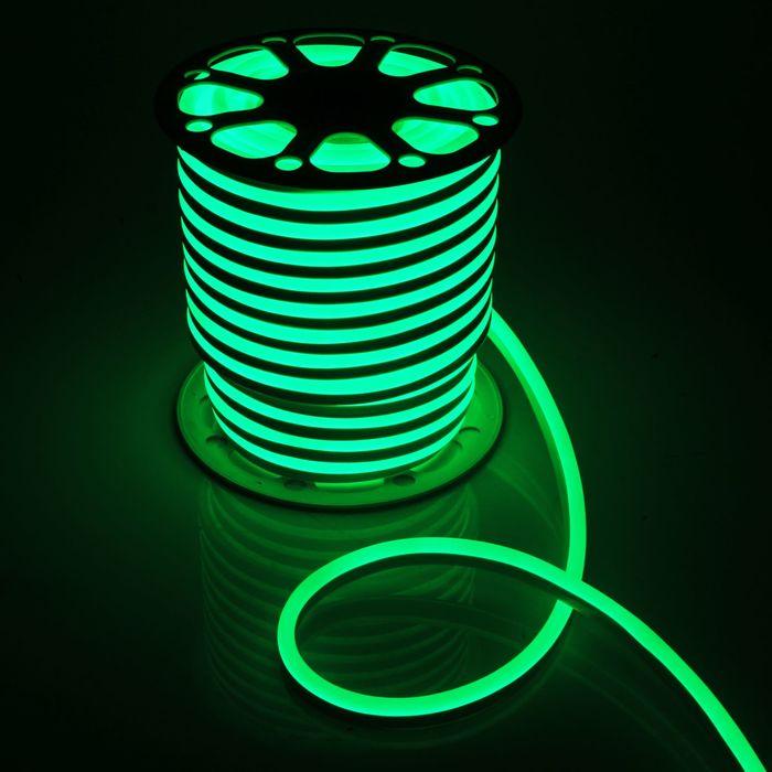 Гибкий неон, 15х25 мм, 50 м, LED/м-120-SMD2835-220V, ЗЕЛЕНЫЙ