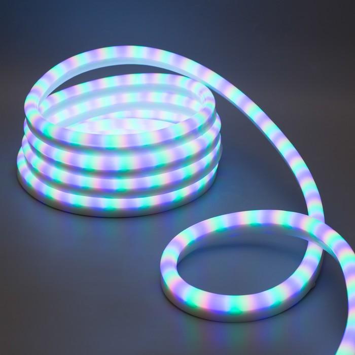 Гибкий неон, 12х24 мм, 5 м, LED/м-80-220V, 7 цветов, МУЛЬТИ