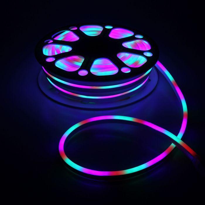Гибкий неон, 8х16 мм, 25 м, LED/м-120-SMD2835-220V, МУЛЬТИ