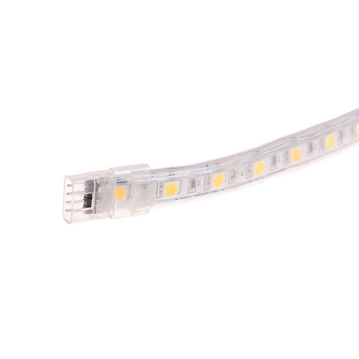 Светодиодная лента 220В, SMD5050, 5 м, IP65, 60 LED, 11 Вт/м, 16-18 Лм/1 LED, AC, ЖЁЛТЫЙ
