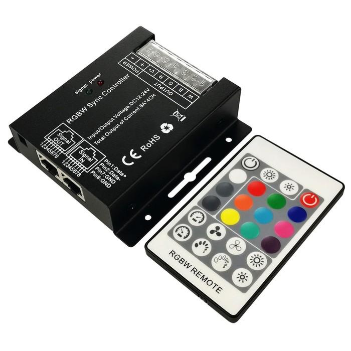 Контроллер RGBW 04-27, 12В/24В, 288Вт/576Вт, 4х6 А