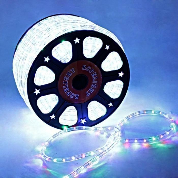 LED шнур 13 мм, круглый, 100 м, фиксинг, 2W-LED/м-36-220V. в компл. набор д/подкл. МУЛЬТИ