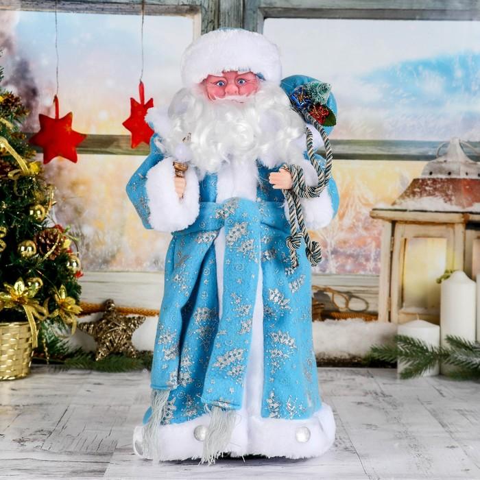 """Дед Мороз """"В синей шубке с подарками"""" 43 см"""