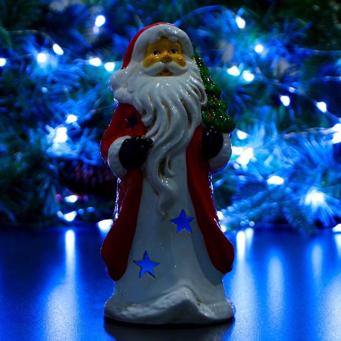 "Фигура ""Дед Мороз с елкой на плече"" 10х10х22см"