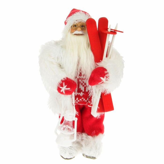 "Дед Мороз ""Лыжник"", красно-белый костюм"