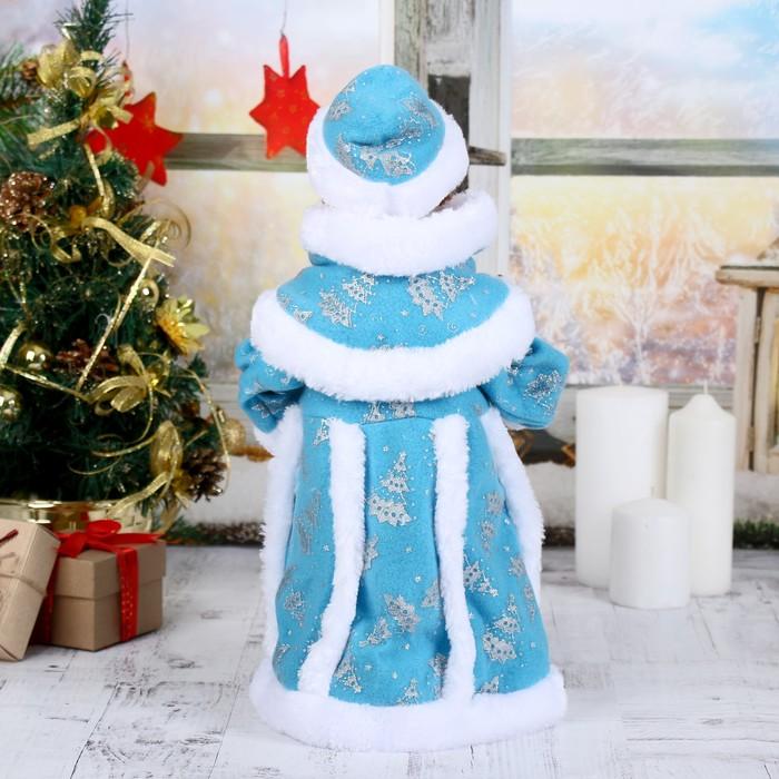 """Снегурочка """"Голубая шубка""""40 см, с посошком, с подсветкой, двигается, без музыки"""