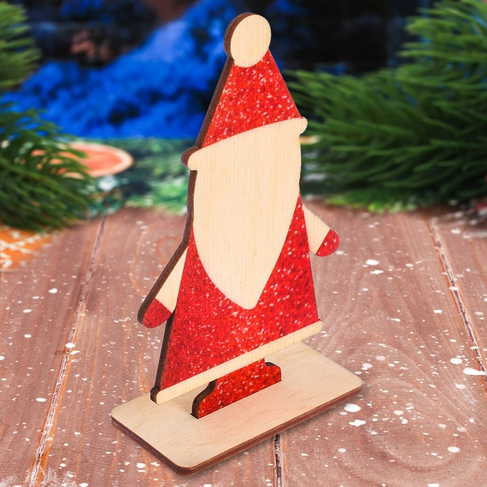 """Декор из дерева """"Дед Мороз"""""""