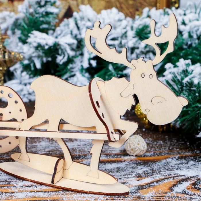 """Заготовка для творчества """"Дед Мороз в санях"""""""