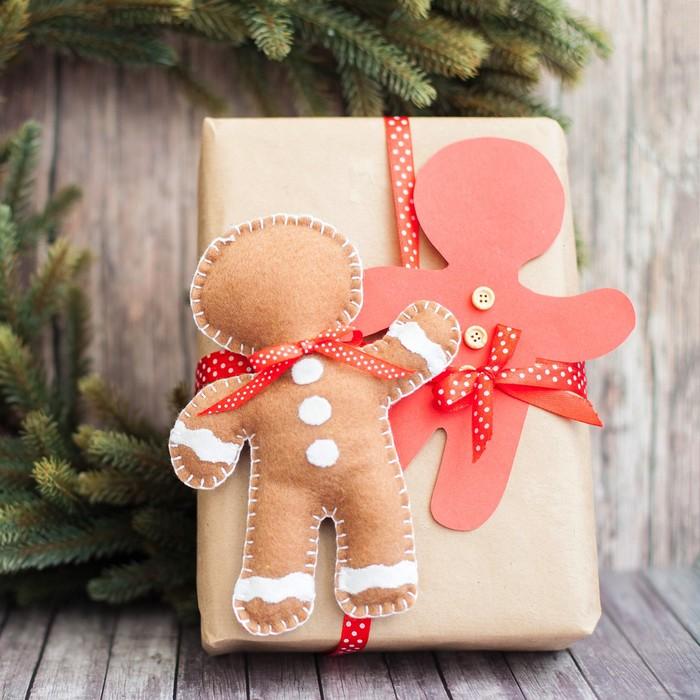 Декор для упаковки подарков «Имбирный пряник», набор для шитья, 22 × 33 × 14 см