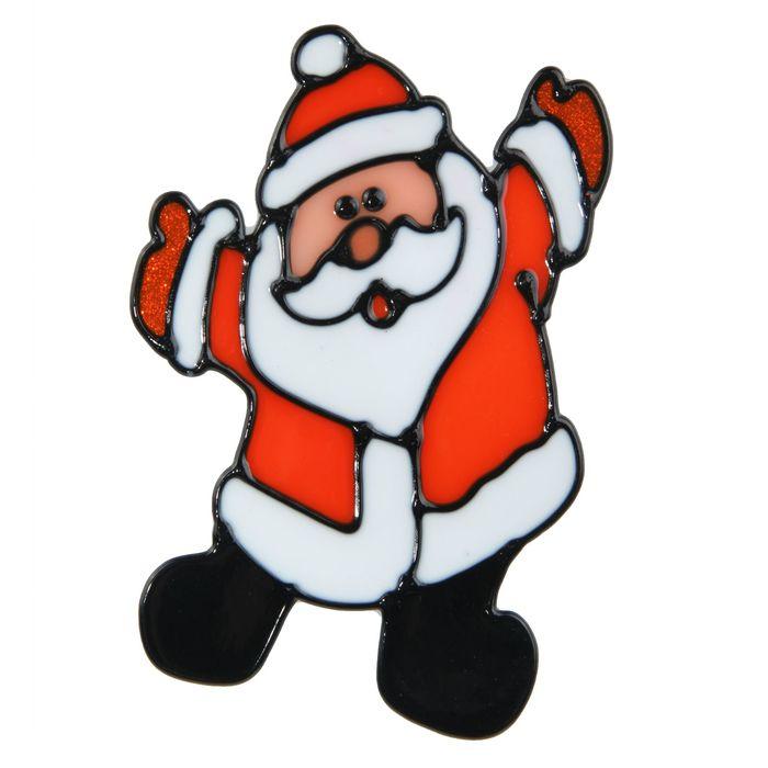 """Наклейка на стекло """"Радостный Дед Мороз"""""""
