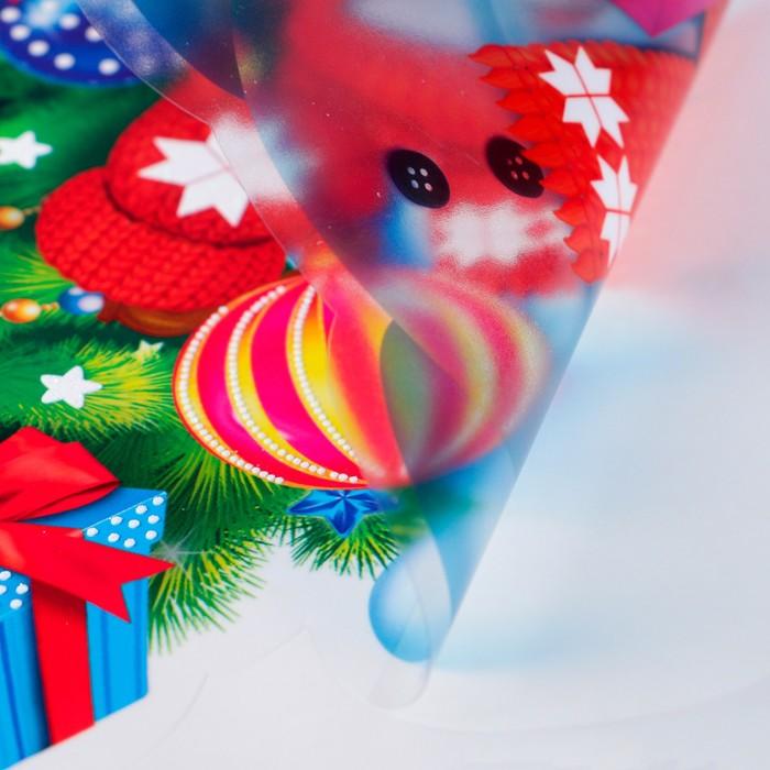 """Набор наклеек на окна """"Новогодняя ёлка"""" 33 х 49 см"""