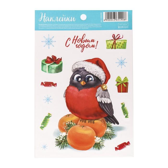 Бумажные наклейки «Новогодний птенчик», 14 х 21 см