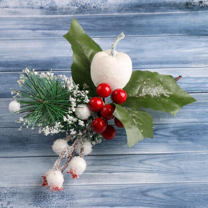 "Декор ""Зимнее чудо"" 21 см ягодки и хвоя"