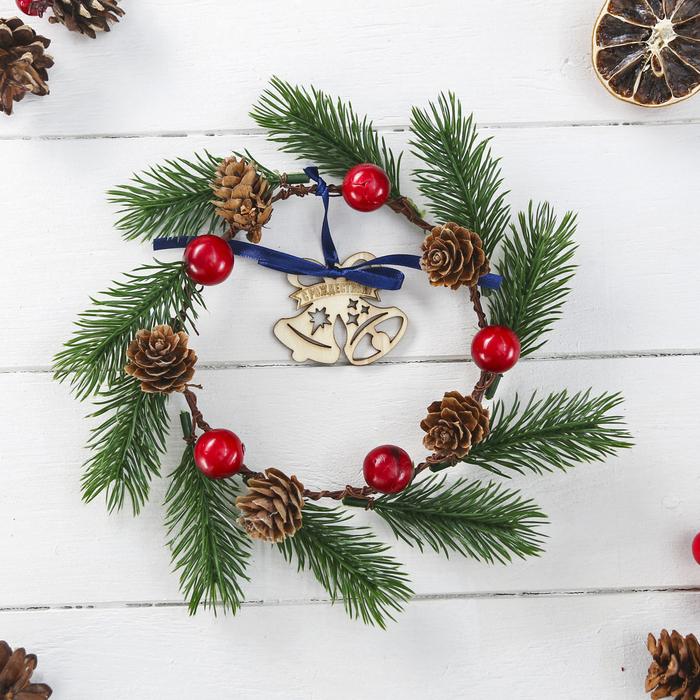 Венок рождественский «Колокольчики», 16 × 16 см