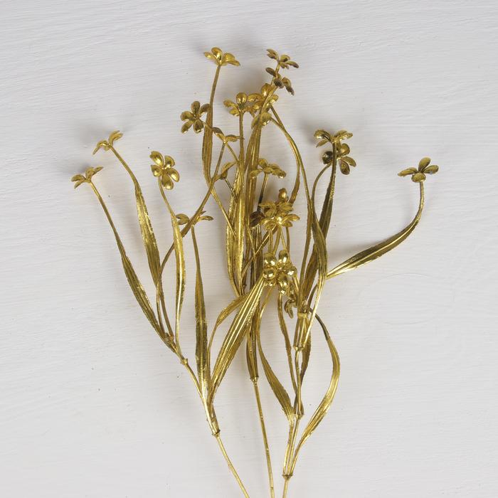 """Цветы искусственные блеск """"Цветочки"""" 2,5*38 см, золото"""