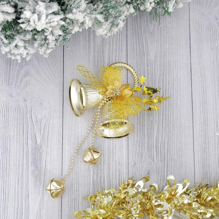 """Украшение новогоднее """"Колокольчики с бубенчиками"""" 11*20 см"""