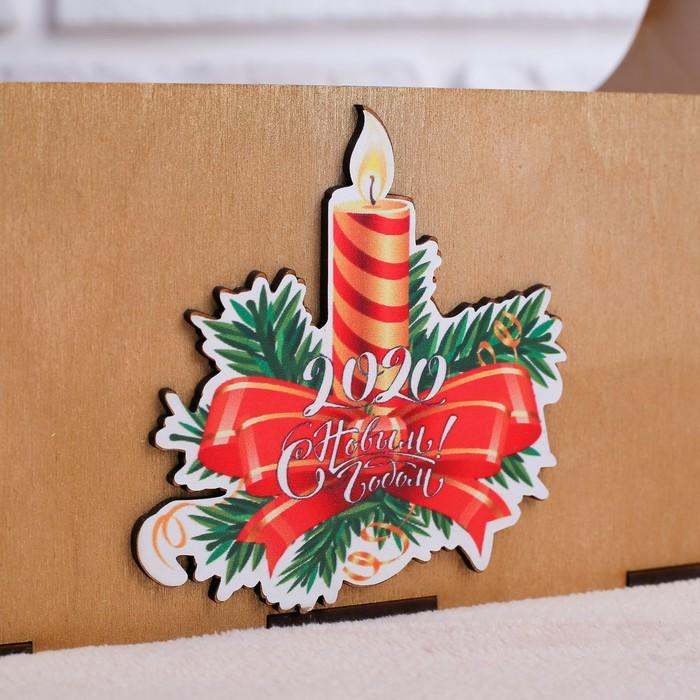 """Кашпо флористическое """"Новогодняя свеча"""", с вставкой, 23×11×22 см"""