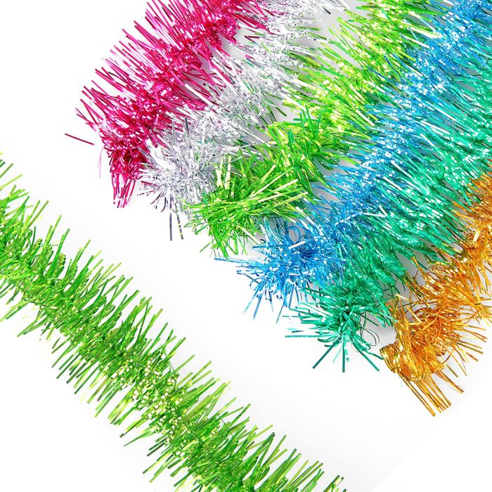"""Мишура """"№20""""  металлическая цветная - на проволоке d=5 см, длина 2.0м микс"""