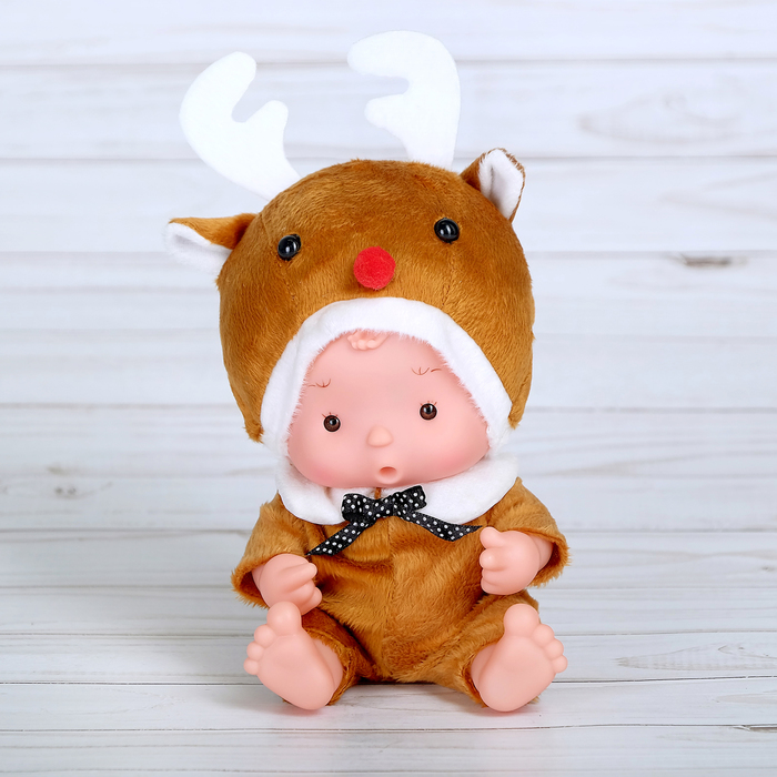 Пупс в костюмчике «Крошики: Снежик»
