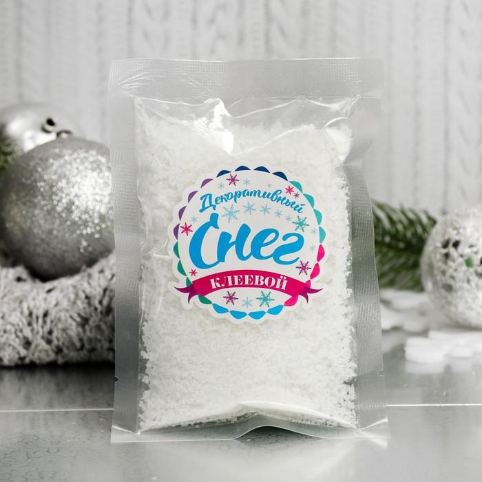"""Снег искусственный клеевой для декора """"Лед со снегом"""" 60 г"""