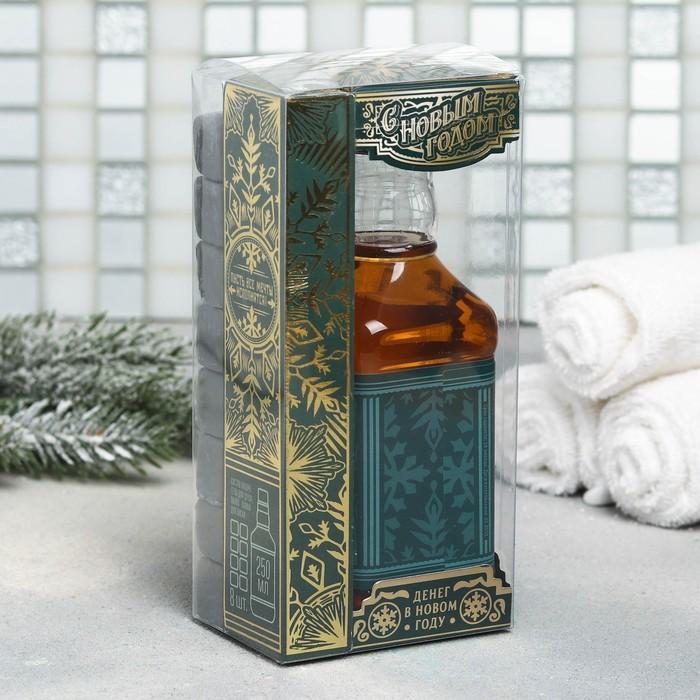 """Подарочный набор """"С Новым годом!"""": гель для душа, мыло-камни"""