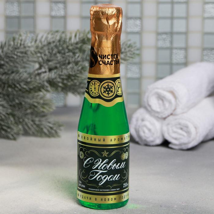 """Подарочный набор """"Российское шампанское"""": гель для душа, бурлящие шары"""
