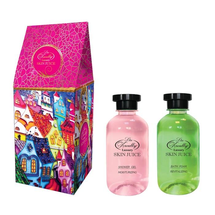 """Подарочный набор Skin Juice """"Домик"""": Гель для душа 270 мл + пена для ванн 270 мл"""