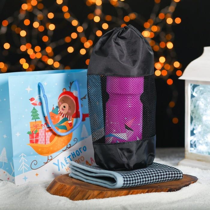 Новогодний подарочный набор «Улётного Нового Года»: бутылка 750 мл, полотенце, МИКС