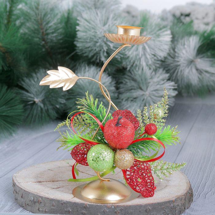 Подсвечник на одну свечу 17*7 см яблочки